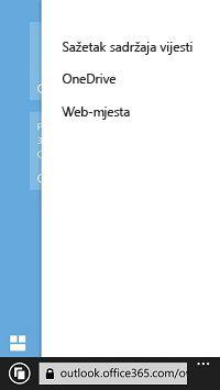 Popis web-mjesta sustava SharePoint na mobilnom uređaju