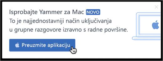 U proizvoda poruka za Mac