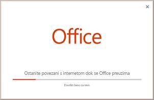 Tijek instalacije aplikacija sustava Office