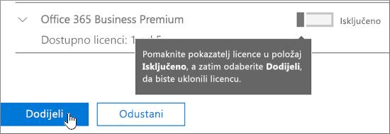 Uklanjanje licenci