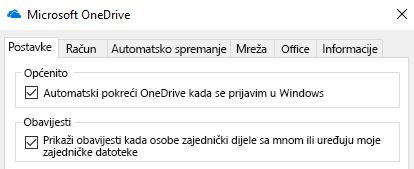 Da biste onemogućili sve obavijesti za OneDrive zajedničke datoteke idite u postavke aplikacije OneDrive i isključite ih.