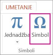Umetanje simbola
