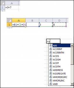 stvaranje formula na različite načine