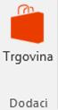 Gumb snimka zaslona trgovine