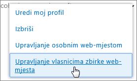 Upravljanje osobnim web-mjestom