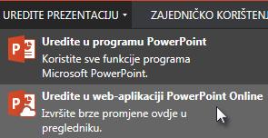 Otvaranje u web-aplikaciji PowerPoint Online