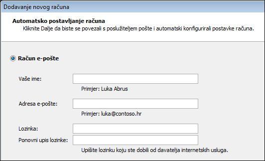Outlook 2010 – dodavanje imena i adrese e-pošte