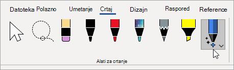 Odabir alata za uređivanje rukopisa