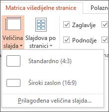 Izbornik Veličina slajda