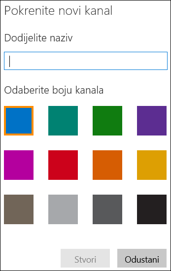 Stvaranje kanala na portalu Office 365 Video