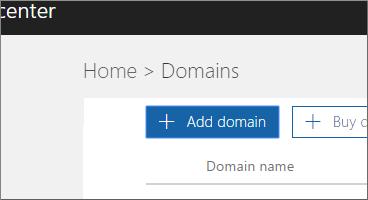 Kliknite Dodaj domenu