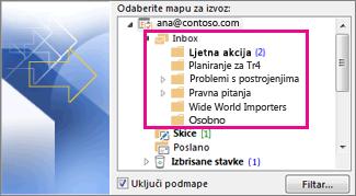 Mape e-pošte