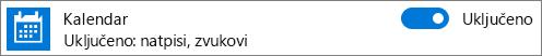 Isključivanje kalendarske obavijesti u sustavu Windows 10 pomoću postavki sustava