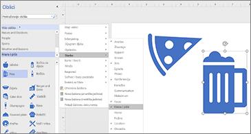 Dijagram s dvije ikone