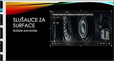 Slajd koji sadrži videozapis s interneta