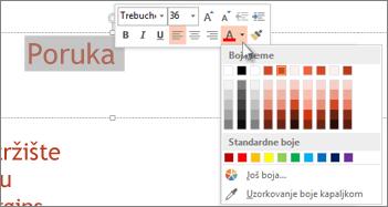 Promjena boje teksta