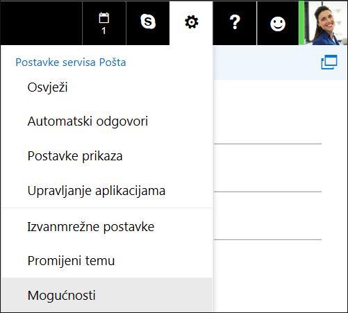 Mogućnosti postavki programa Outlook na webu