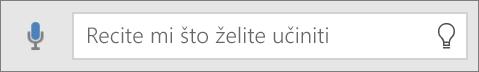 """Prikazuje ikonu """"Recite mi"""" u okviru za pretraživanje sustava Office Mobile"""