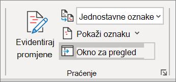 Evidencija promjena u programu Word