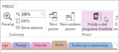 Upravljanje brzim bilješkama pomoću alata za slanje u OneNote