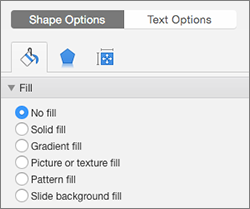 Select No Fill under Shape Options