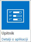 Ikonu aplikacije upitnik ugrađenima u SharePoint