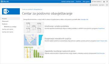 Predložak web-mjesta za poslovno obavještavanje