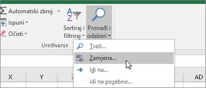 Kartica Polazno > Pronađi i odaberi > Zamijeni