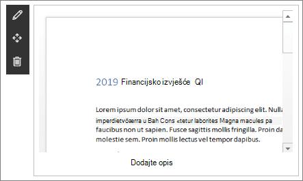 Web-dio preglednika datoteka u uzorku modernog Enterprise odredišnog web-mjesta u sustavu SharePoint Online