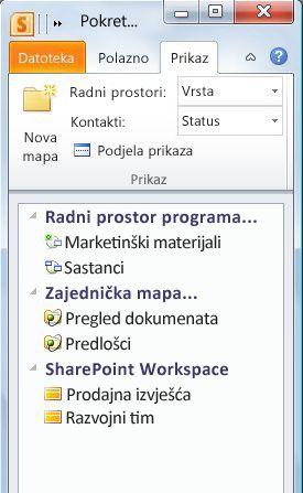 Radni prostori kategorizirani po vrsti