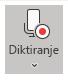 Prikazuje ikonu Diktat nakon odabira