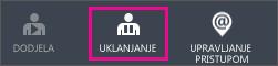 Prikazuje gumb Ukloni u komponenti Azure AD