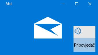 Pregled Pošte za Windows 10 i pripovjedača