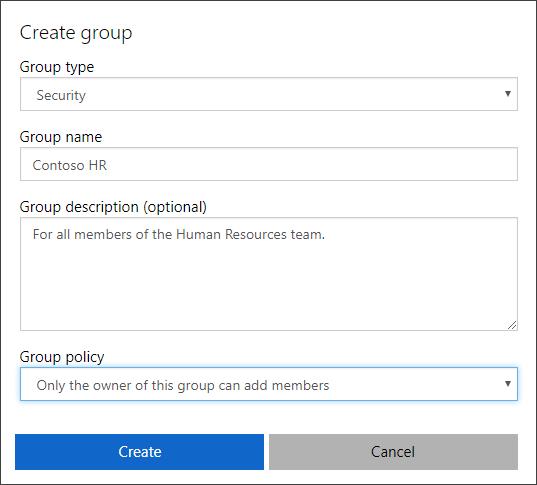 Stvaranje stranice grupe