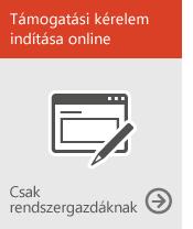 Kérelem indítása online (csak rendszergazdáknak)