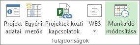 A Projekt lap Munkaidő módosítása gombja