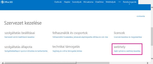 Nyilvános webhely kezelése