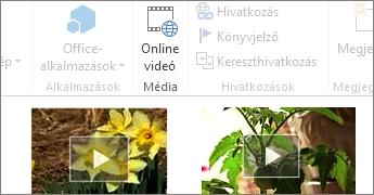 Online videó Word-dokumentumban