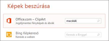 Kép beszúrása ClipArt-elemből