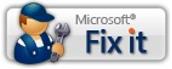 A Microsoft Fix it gomb