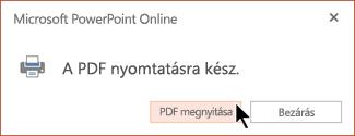 A PDF-fájl készen áll