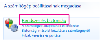 A Windows 7 Vezérlőpult