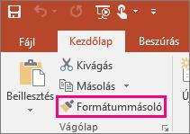 A Formátummásoló gomb a PowerPointban