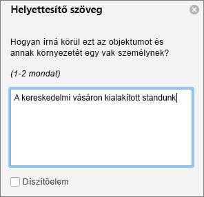 A helyettesítő szöveg ablakban, a Word programban