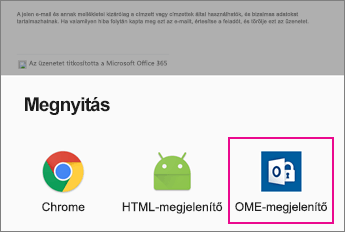 OME Viewer Android rendszerű e-mail-app 2