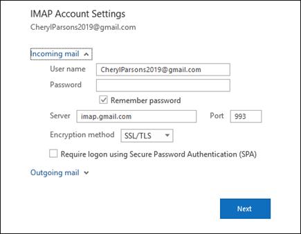 A kiszolgáló beállításai lehetőséget választva módosíthatja a felhasználónevet, a jelszót és a kiszolgáló beállításait.