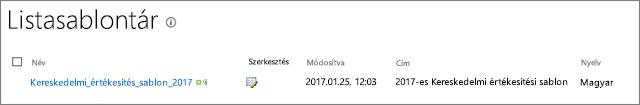 Listasablon oldal