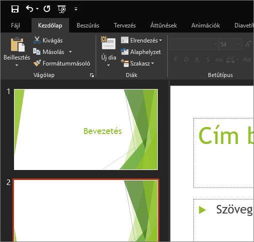 A Fekete téma megjelenítése a Windows PowerPoint 2016-ban