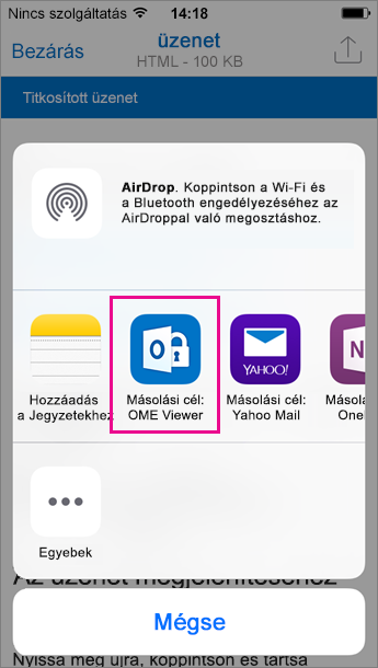 iOS 3 Outlook OME Viewer