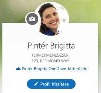 Kattintson a Profil frissítése gombra az információi módosításához